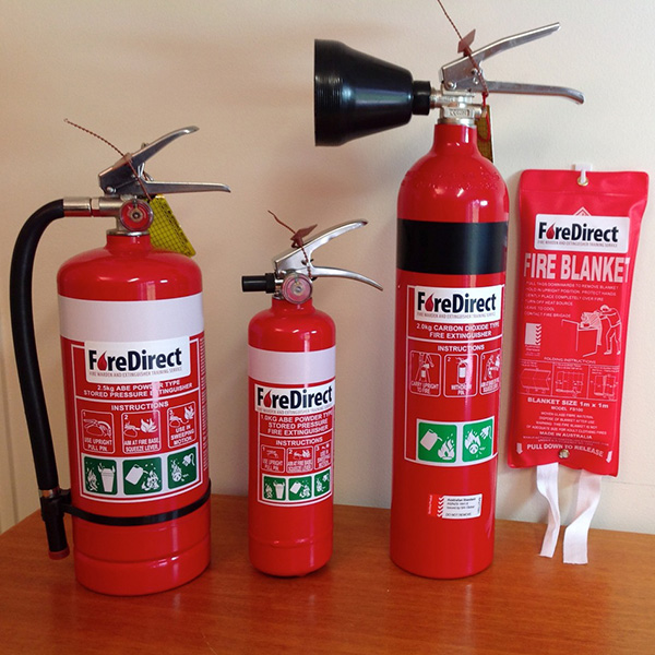 FireDirect product - Fire extinguishers and fire blanket